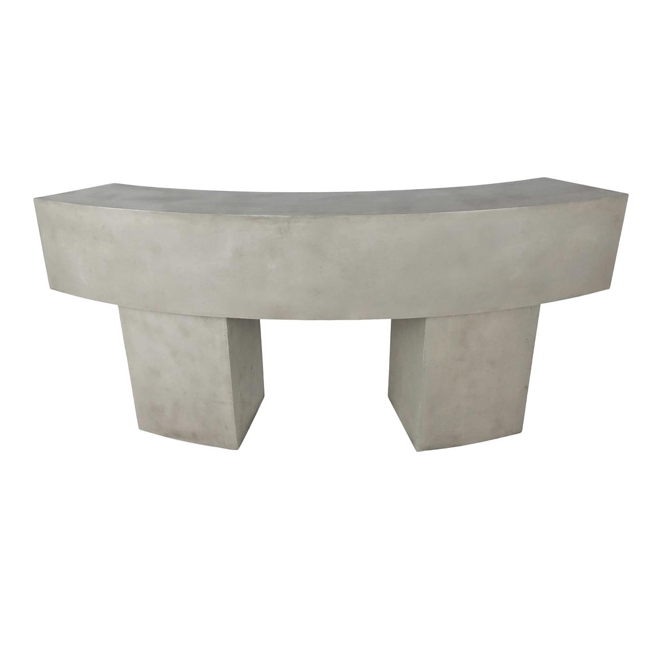 BAR TABLE CURVER 225X82X103 D/GREY CEMENT 609690